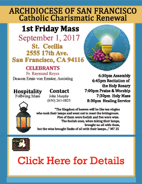 First Friday Mass September 2017